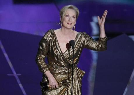MISS - WHO: Meryl Streep. WHERE: The 84th annual Academy Awards on Feb. 26. WORE: Lanvin - or is that wrapping paper?